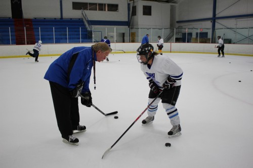 Adult ice hockey camp, dirty puss